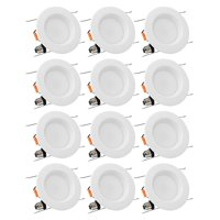 12 Pack 15W 5/6 Inch LED Recessed Ceiling Light, 5000K Daylight