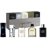 ($70 Value) Giorgio Armani Mini Cologne Gift Set for Men, 5 Pieces