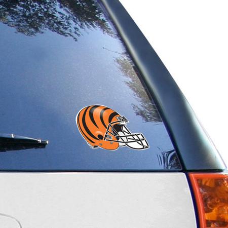 Cincinnati Bengals 4.5'' x 6'' Team Helmet Ultra Decal Cling - No - Bengals Helmet