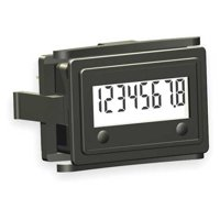 REDINGTON 3410-2000 LCD Hour Meter,1.60 in Flange,Mini Flush