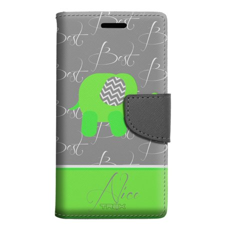 buy popular b0adc 31c0b ZTE Blade X Max Wallet Case - Best Friends Elephant Monogram - Best