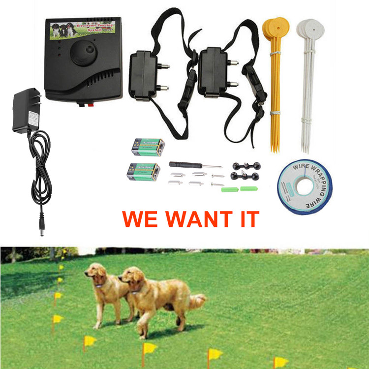 new new underground electric dog fence fencing system 2 shock collar waterproof