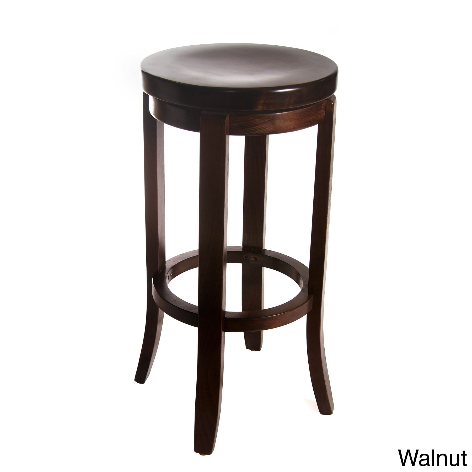 Beechwood Mountain LLC Champagne Swivel Bar Stool Black by Overstock
