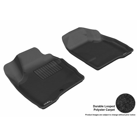 3D MAXpider 2006-2013 Chevrolet Impala Front Row All Weather Floor Liners in Black