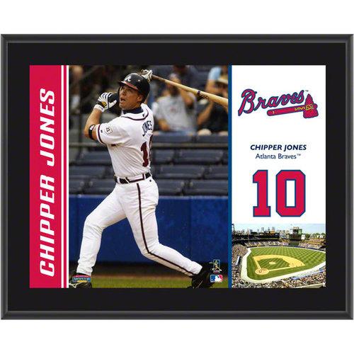 MLB - Chipper Jones Plaque | Details: Atlanta Braves, Sublimated, 10x13, MLB Plaque