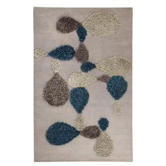M A Trading VIVPORGRY052076 Vivant 2035 5.17 ft. x 7.5 ft. Hand Tufted Rug - Grey-Blue
