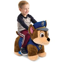 Nick Jr. Paw Patrol 6V Plush Ride ons for Toddlers - Chase/Marshall/Skye