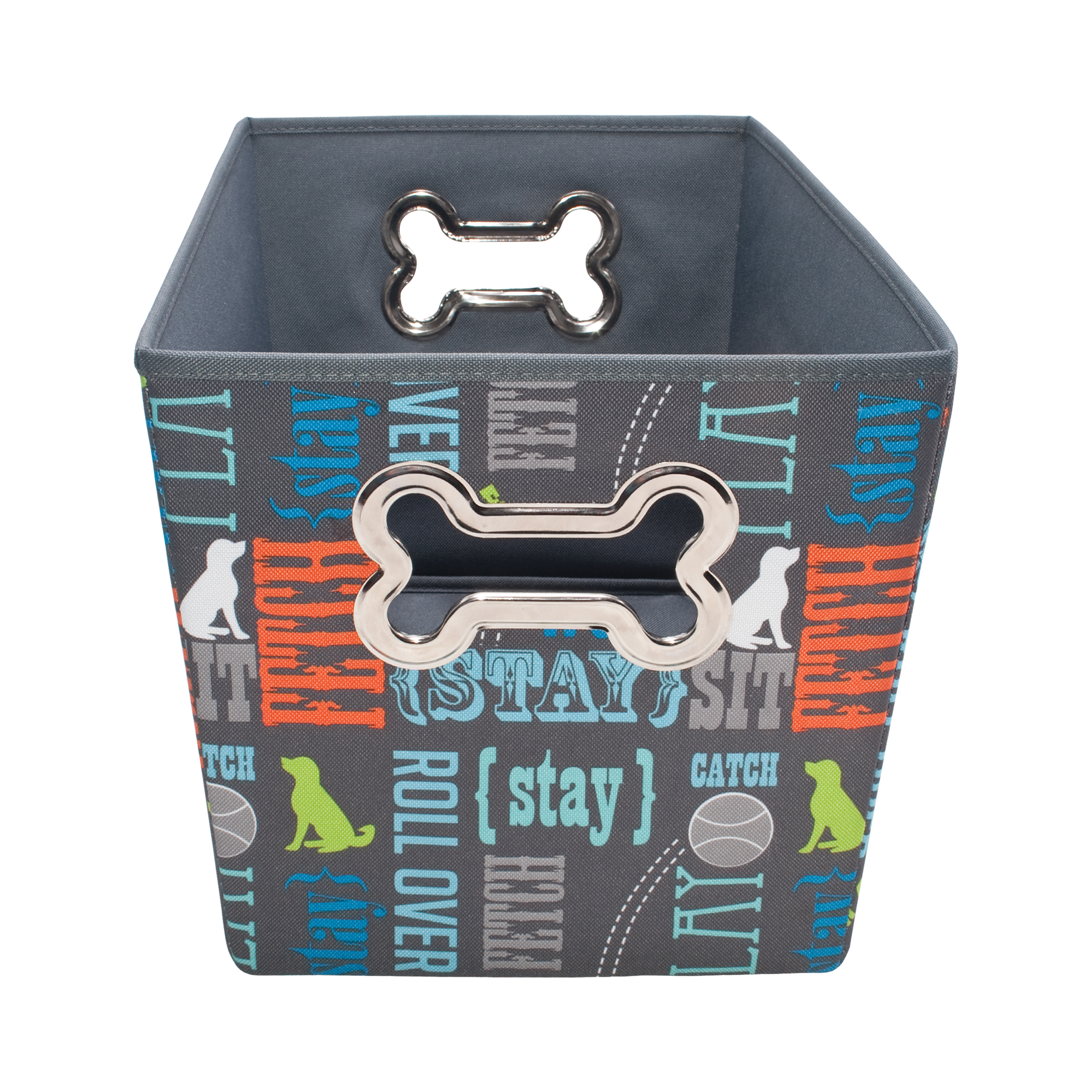 Paw Prints Fabric Toy Bin, Wordplay