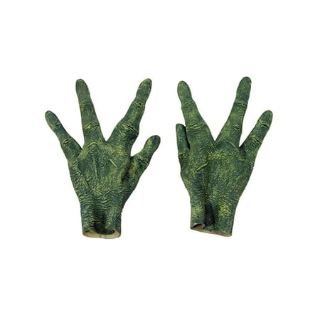 Creepy Alien Hands Four Finger Latex Gloves Scary Halloween Costume Accessory (Creepy Smile Halloween)