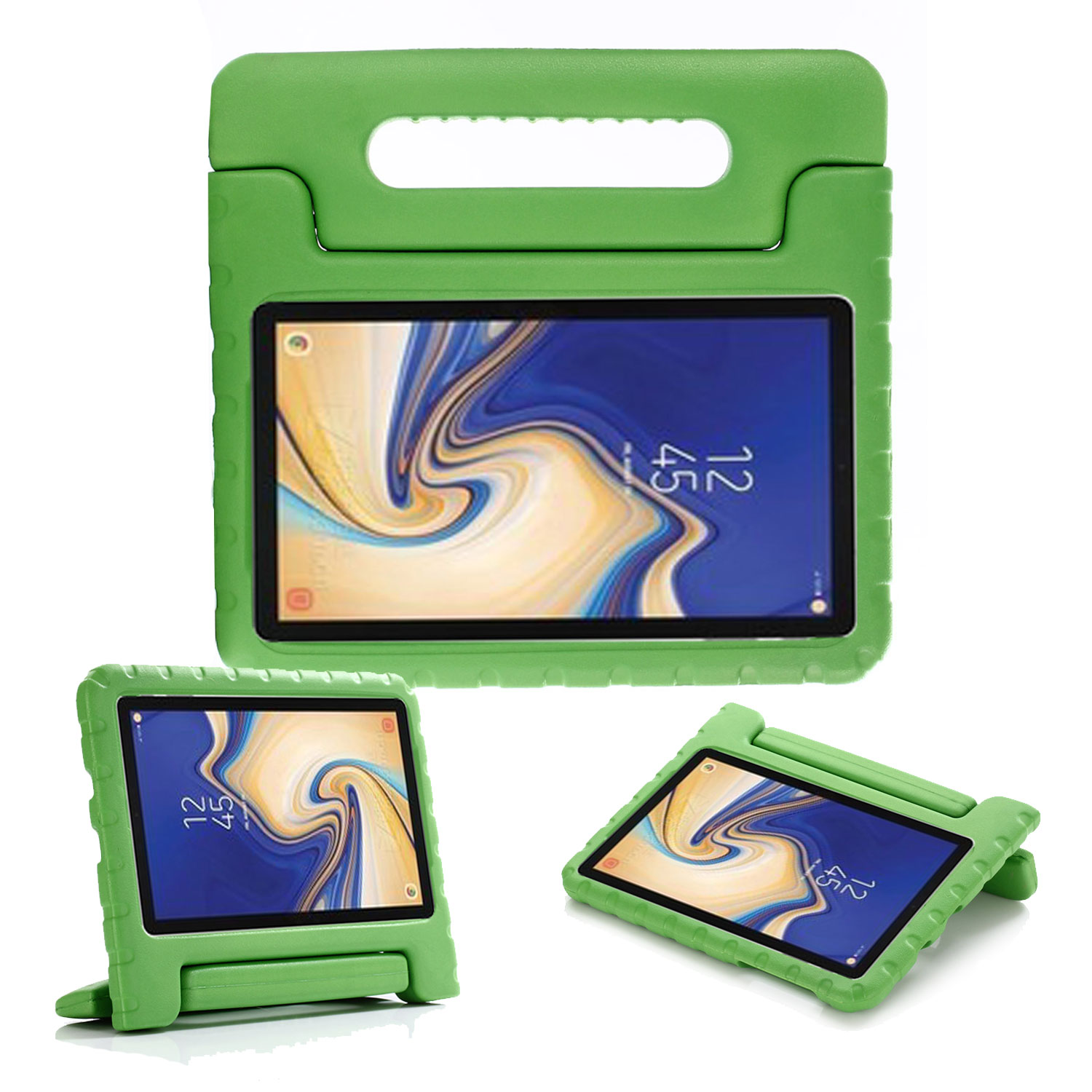 Allytech Kids Case for New Samsung Galaxy Tab A 8.0 2018 - EVA ShockProof Case Light Weight Super Protection Cover Handle Stand Case for Samsung Galaxy Tab A 8.0 2018 (SM-T387) - Green