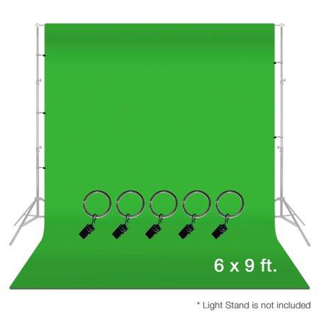 Loadstone Studio Photo Video Photography Studio 6x9ft Green Muslin Backdrop Background Screen with 5x Backdrop Holder Kit, WMLS3330