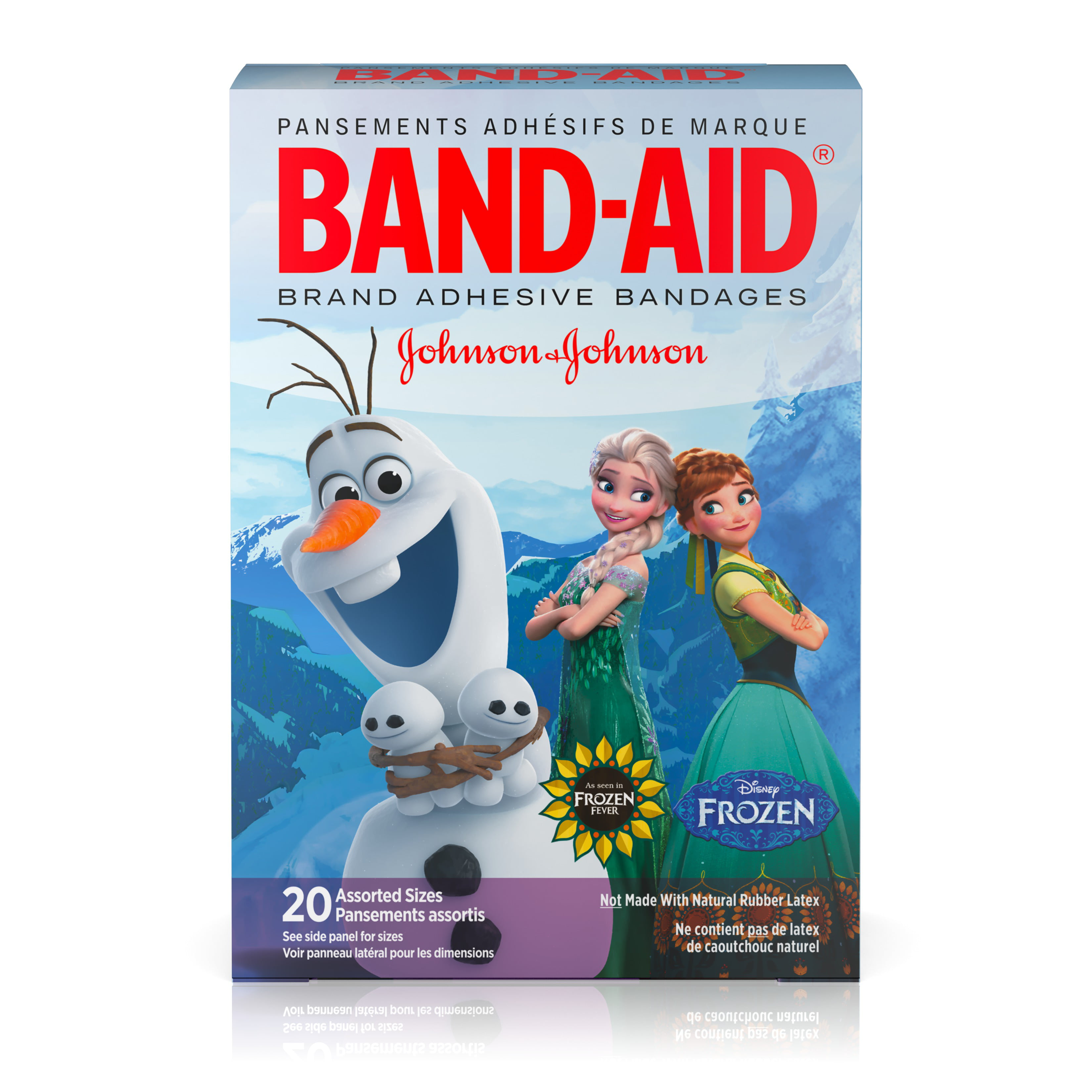 Band-Aid Brand Adhesive Bandages, Disney Frozen, Assorted Sizes 20 ct by Johnson & Johnson