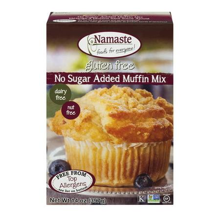(2 Pack) Namaste Foods Gluten Free No Sugar Added Muffin Mix, 14 oz - Vegane Halloween Muffins