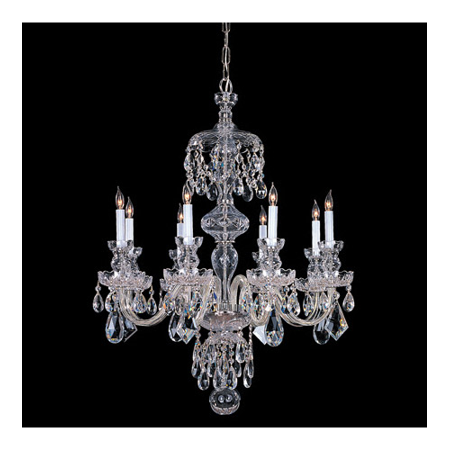 Chandeliers 8 Light With Polished Chrome Clear Swarovski Strass Crystal 28 inch 480 Watts - World of Lighting (Eight Light Swarovski Strass Crystal)