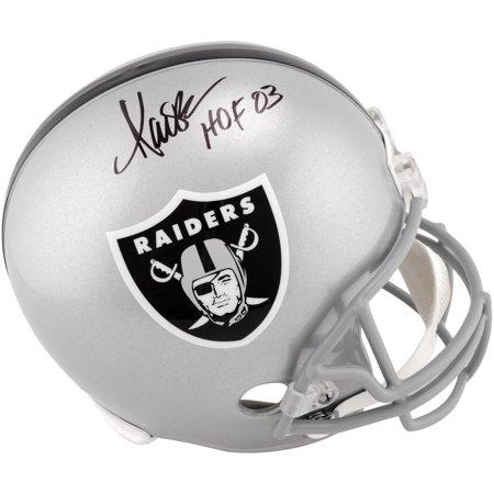 Marcus Allen Oakland Raiders Autographed Replica Helmet with HOF 03 Inscription - Fanatics Authentic Certified
