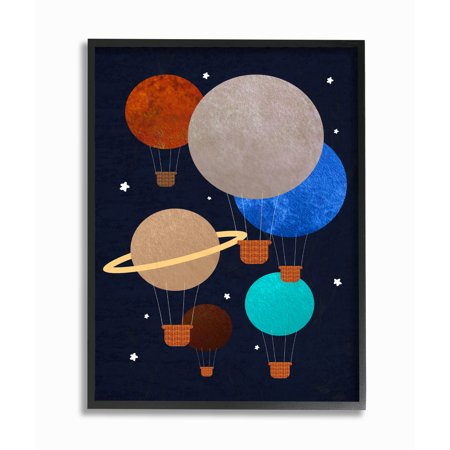 Oversized Balloons (The Kids Room by Stupell Hot Air Balloon Planets Oversized Framed Giclee Texturized)