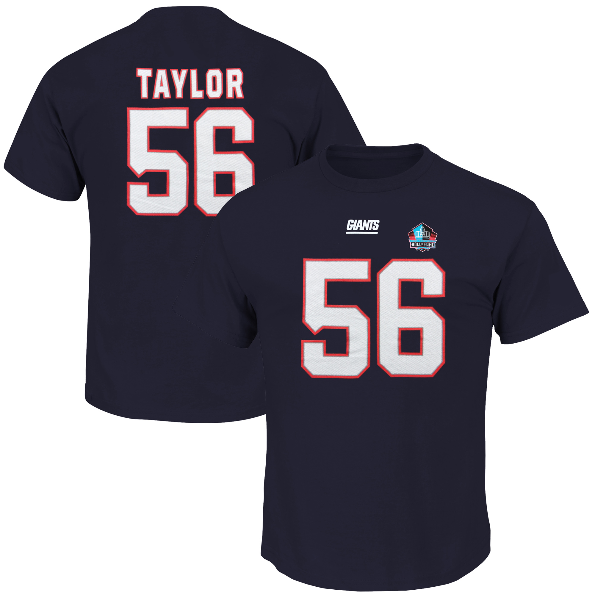 Lawrence Taylor New York Giants Majestic Hall of Fame Eligible Receiver II Big & Tall Name & Number T-Shirt - Navy