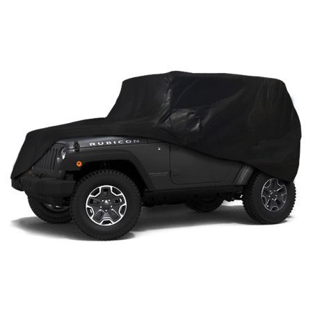 CarsCover Custom Fit 100% Sunblock 2004-2018 Jeep Wrangler Unlimited 4 Door SUV Xtrashield Car Cover Custom Fit Cover Ski