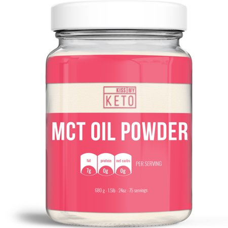 Kiss My Keto MCT Oil Powder C8 - Keto Creamer, 75 Servings, Zero Net Carbs, Ketogenic Friendly Coffee Creamer, Easy to Mix, Absorb, Digest, Get Into Ketosis, Medium Chain Triglyceride