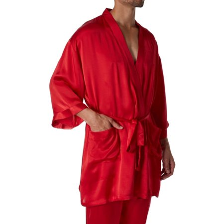 - Men's Magic Silk 2604 Silk Charmeuse Kimono Robe