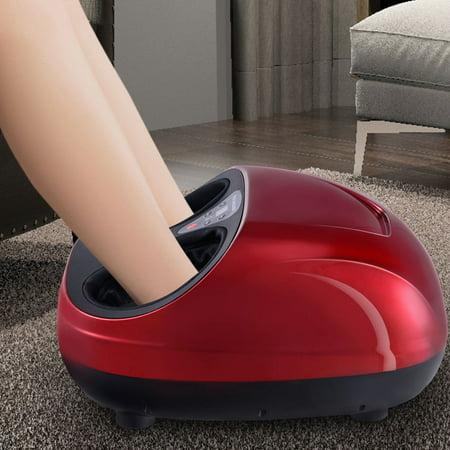 Gymax Foot Massager Shiatsu Deep Kneading Massage W/ Heat Rolling and Air Compression