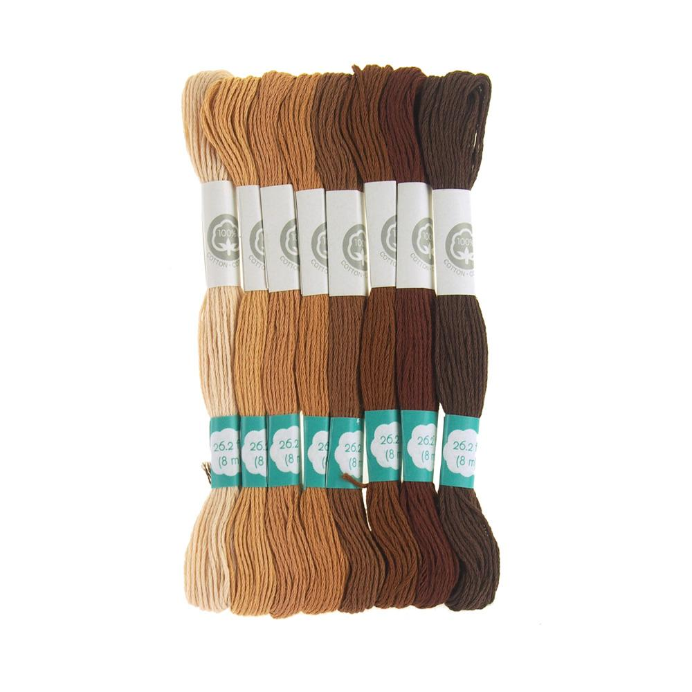 Cotton Embroidery Floss, 8.7-Yard, 8-Count, Natural Selection