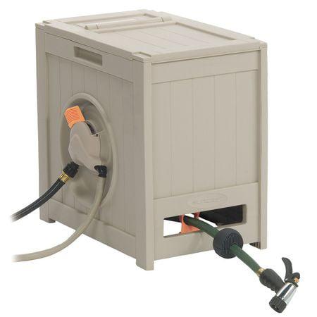 Suncast AquaWinder® Auto Rewind Garden Hose Reel and Hideaway, 125 ft.