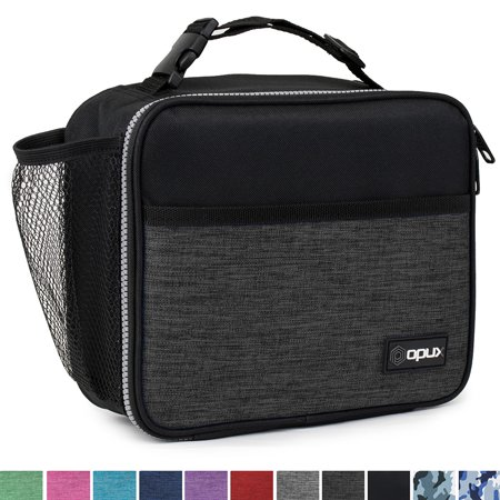 OPUX Premium Insulated Lunch Bag for Adults Men Women | Soft Leakproof Lunch Box for Kids, Boys, Girls| Reusable Durable Thermal Lunch Pail for School Work Office | Fit 6 Cans ()