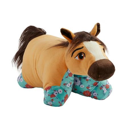 Pillow Pets NBCUniversal Spirit Riding Free - Spirit Stuffed Animal Plush Toy (Spirit Studded Leather)