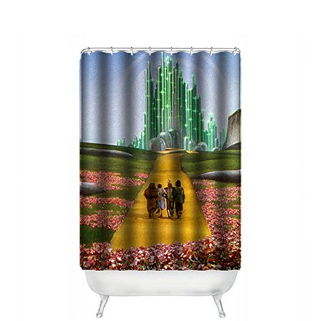 Ganma The Wizard Of Oz Shower Curtain Polyester Fabric Bathroom 36x72 Inches