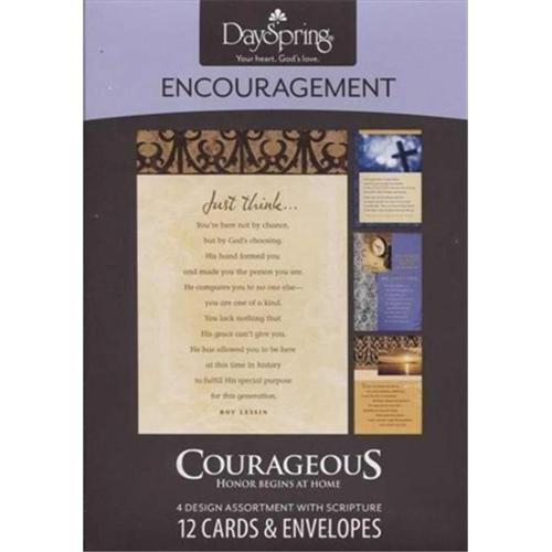 Dayspring Cards 508844 Card Boxed Encour Courageous
