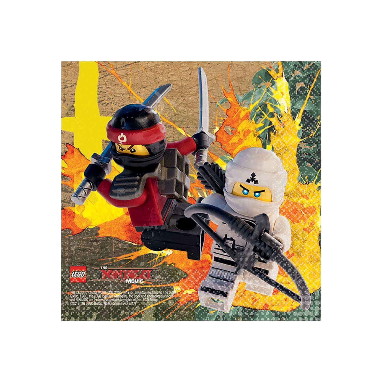 "The LEGO Ninjago Movie 5"" Beverage Napkins, 16 Count"