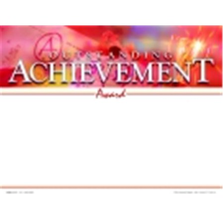 School Specialty 8.5 x 11 in. Outstanding Achievement Recognition Focus Award, Pack -