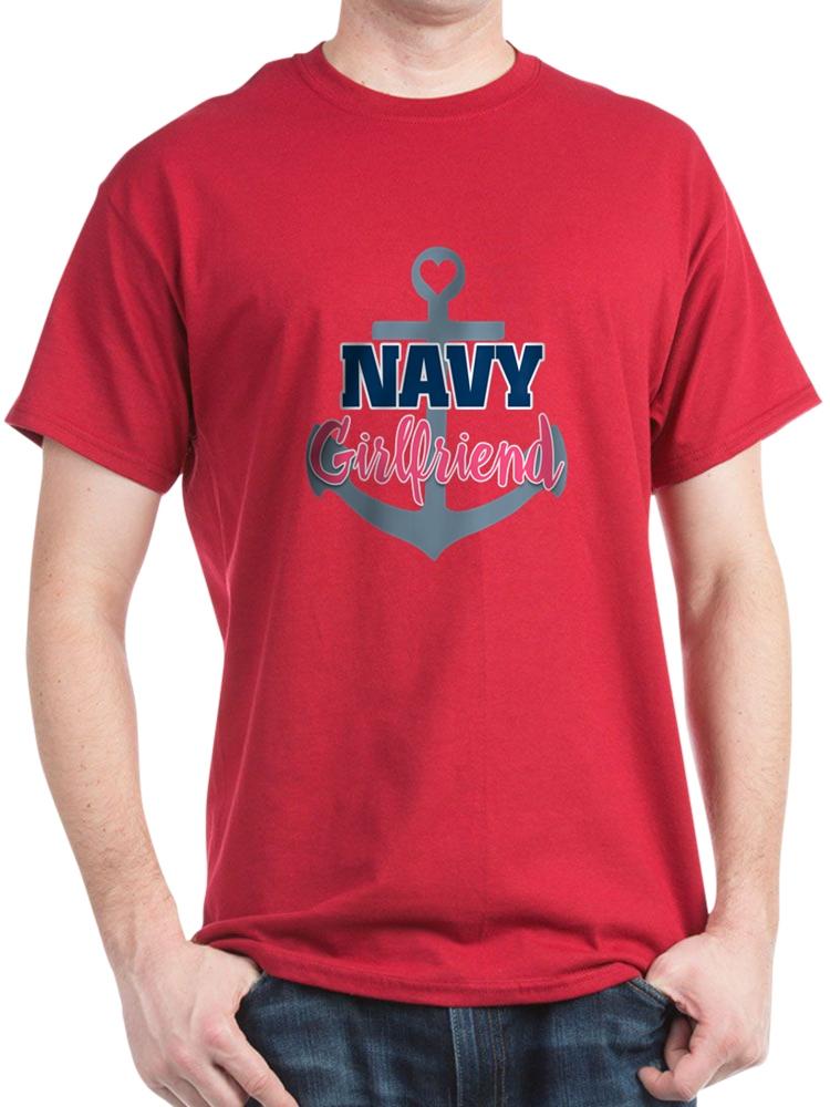 CafePress - US Navy Girlfriend - 100% Cotton T-Shirt