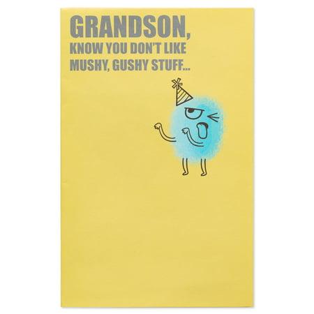 American Greetings Mushy Gushy Birthday Card For Grandson Walmart