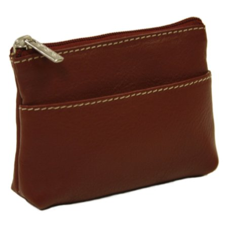 Piel Leather Key/Coin Purse - Red