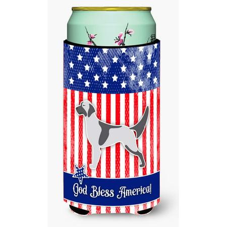 USA Patriotic English Setter Tall Boy Beverage Insulator Hugger BB3281TBC