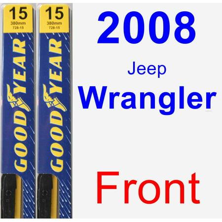 2008 Jeep Wrangler Wiper Blade Set/Kit (Front) (2 Blades) - (Best Wiper Blades For Jeep Wrangler Jk)