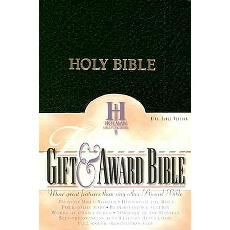 KJV Gift & Award Bible, Black Imitation Leather ()
