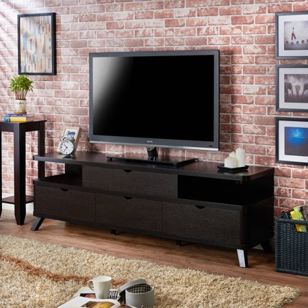 Furniture of America Harrison Contemporary Angled Leg TV Stand for up to 70″, Multiple Colors