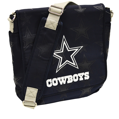 NFL Diaper Bag by Lil Fan, Messenger Style - Dallas Cowboys