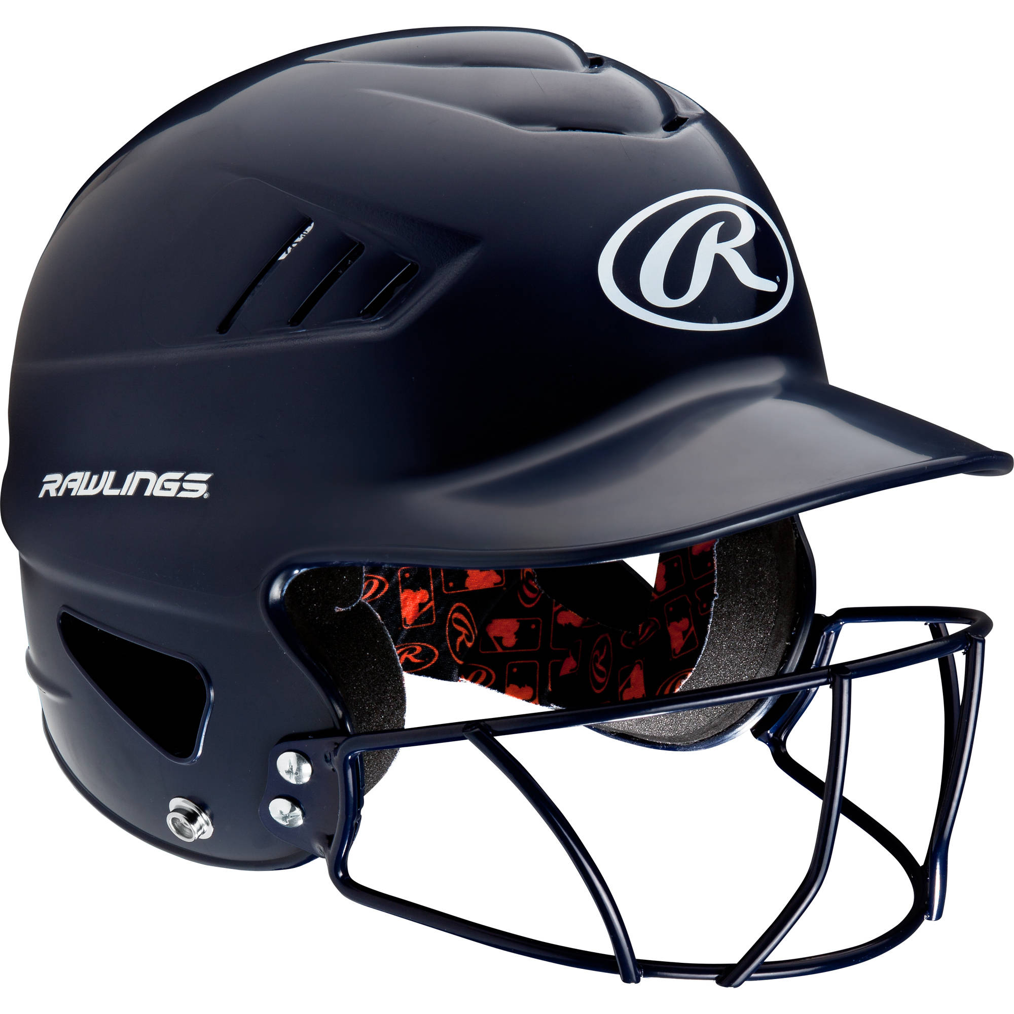 Rawlings Coolflo Helmet with Mask, Navy Blue