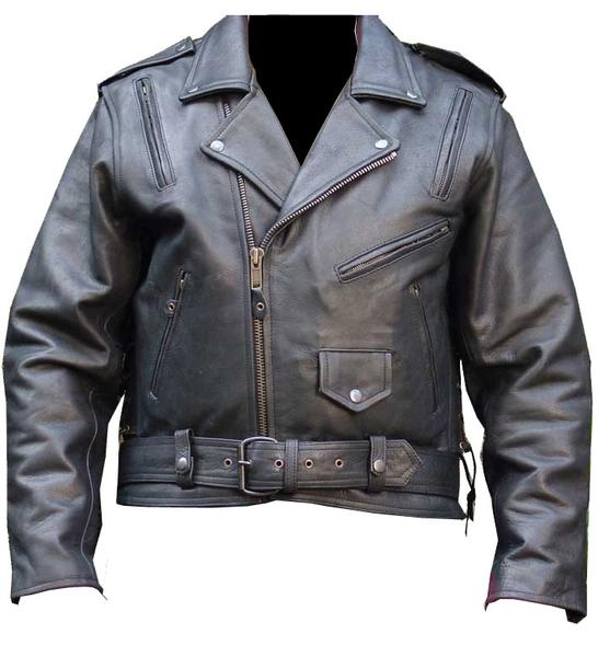 New Men's Motorcycle Leather Biker Classic Jacket Removable Liner
