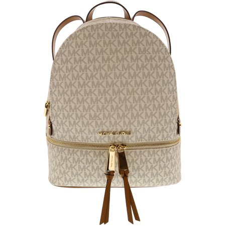7590dc59b29208 Michael Kors - Michael Kors Women's Medium Rhea Leather Backpack - Vanilla  - Walmart.com