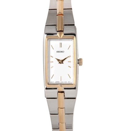 Seiko Ladies' Bracelet Watch - Gold & Stainless - White Dial - SZZC40
