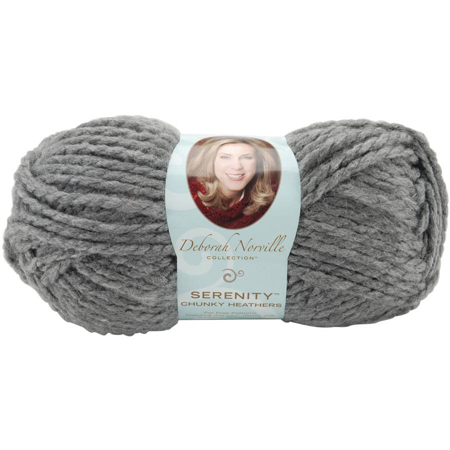 Deborah Norville Serenity Chunky Heathers Yarn: Smoke Heather