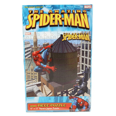 The Amazing Spider Man Venom And Spidey Water Tower Jigsaw