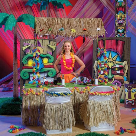 Tabletop Tiki Hut - Tiki Party Ideas
