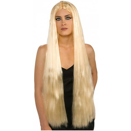 36 inch Long Blonde Witch Wig Adult Costume - Long White Blonde Wig