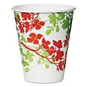 Dixie Ultra.  827287 Modern Romance Paper Cold Cups, 12 oz, White/Green/Brown, 300/Carton